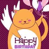 γάτα μπαλονιών Στοκ Εικόνες