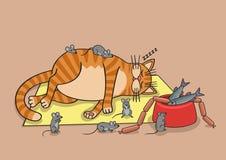 γάτα οκνηρή Στοκ Φωτογραφία