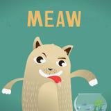 γάτα πεινασμένη Στοκ εικόνα με δικαίωμα ελεύθερης χρήσης