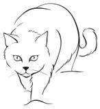 Γάτα περιγραμμάτων διανυσματική απεικόνιση