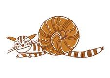 Γάτα-σαλιγκάρι καλή απεικόνιση Στοκ φωτογραφία με δικαίωμα ελεύθερης χρήσης