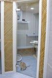 Γάτα στο ξενοδοχείο κατοικίδιων ζώων Στοκ φωτογραφίες με δικαίωμα ελεύθερης χρήσης