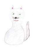 Γάτα σχεδίων παιδιών Στοκ εικόνα με δικαίωμα ελεύθερης χρήσης