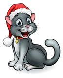 Γάτα της Pet Χριστουγέννων κινούμενων σχεδίων Στοκ εικόνα με δικαίωμα ελεύθερης χρήσης