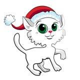 Γάτα Χριστουγέννων Στοκ Εικόνες