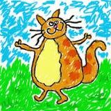 γάτα childs διανυσματική απεικόνιση