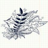 Γάτα Doodle Στοκ Εικόνα
