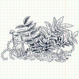 Γάτα Doodle Στοκ Φωτογραφίες