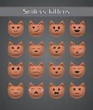 Γάτα emoticons για το ζωολογικό κήπο φόρουμ απεικόνιση αποθεμάτων