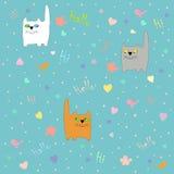 Γάτες άνοιξη Στοκ εικόνα με δικαίωμα ελεύθερης χρήσης