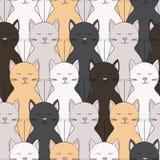 γάτες ανασκόπησης άνευ ραφής Στοκ Φωτογραφίες
