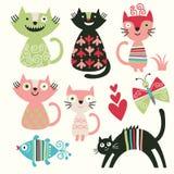 γάτες αστείες Στοκ φωτογραφίες με δικαίωμα ελεύθερης χρήσης