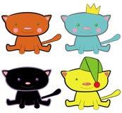 γάτες αστείες Στοκ εικόνα με δικαίωμα ελεύθερης χρήσης