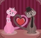 Γάτες εραστών Στοκ εικόνες με δικαίωμα ελεύθερης χρήσης