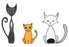 Γάτες κινούμενων σχεδίων Στοκ Εικόνες
