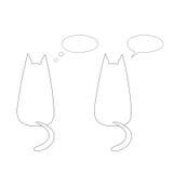 Γάτες με τις λεκτικές φυσαλίδες διανυσματική απεικόνιση