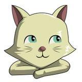 Γάτες που σκέφτονται χαριτωμένες διανυσματική απεικόνιση