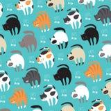 Γάτες στο διάνυσμα στοκ εικόνες με δικαίωμα ελεύθερης χρήσης