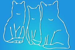 γάτες τρία Στοκ εικόνα με δικαίωμα ελεύθερης χρήσης