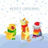 Γάτες Χριστουγέννων Στοκ φωτογραφία με δικαίωμα ελεύθερης χρήσης