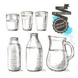 Γάλα βάζων μπουκαλιών Στοκ Φωτογραφία
