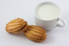 Γάλα και γλυκά Στοκ Εικόνα