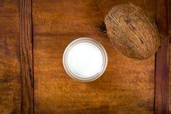 Γάλα και καρύδα κοκοφοινίκων Στοκ Εικόνες