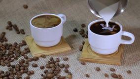 γάλα καφέ απόθεμα βίντεο