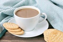 γάλα μπισκότων καφέ Στοκ φωτογραφία με δικαίωμα ελεύθερης χρήσης