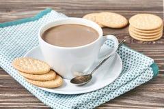 γάλα μπισκότων καφέ Στοκ Εικόνα