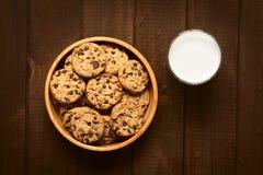 γάλα μπισκότων σοκολάτα&sigmaf Στοκ Εικόνες
