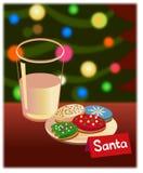 γάλα μπισκότων Χριστουγέν&n Στοκ Εικόνες