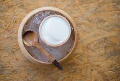 Γάλα πουτίγκας με τον πάγο στοκ εικόνες με δικαίωμα ελεύθερης χρήσης