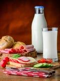 γάλα προγευμάτων Στοκ Εικόνες