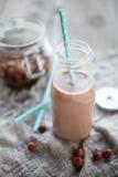 Γάλα φουντουκιών σοκολάτας Στοκ φωτογραφία με δικαίωμα ελεύθερης χρήσης