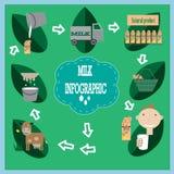 Γάλα infographic Στοκ Φωτογραφίες
