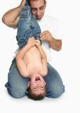 γέλιο διασκέδασης μπαμπάδων στοκ εικόνες