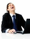 γέλιο επιχειρηματιών στοκ φωτογραφία με δικαίωμα ελεύθερης χρήσης
