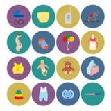 Γέννηση εικονιδίων μωρών εγκυμοσύνης Στοκ φωτογραφία με δικαίωμα ελεύθερης χρήσης