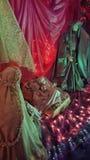 Γέννηση ενός παιδιού Ιησούς Mary και του αγάλματος του Joseph Στοκ εικόνα με δικαίωμα ελεύθερης χρήσης