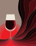 Γέννηση του κόκκινου κρασιού. απεικόνιση αποθεμάτων