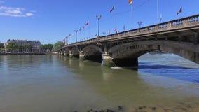 Γέφυρα Άγιος-ESPRIT σε Bayonne απόθεμα βίντεο