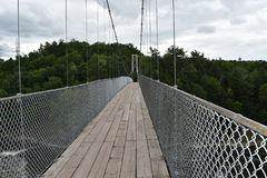 Γέφυρα άνω του Λα Chaudiere καταρρακτών στοκ φωτογραφίες