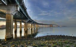 Γέφυρα λαιμών Throgs Στοκ Εικόνες