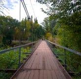 Γέφυρα αναστολής Krivoy Rog Στοκ εικόνες με δικαίωμα ελεύθερης χρήσης