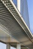 Γέφυρα αναστολής πέρα από τη δοκό της Ada και τη Pylon λεπτομέρεια - Βελιγράδι - Στοκ φωτογραφία με δικαίωμα ελεύθερης χρήσης