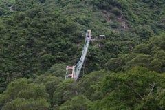 Γέφυρα αναστολής Douna στο εθνικό πάρκο Maulin, Ταϊβάν Στοκ φωτογραφία με δικαίωμα ελεύθερης χρήσης