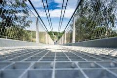Γέφυρα αναστολής Harz rappodetalsperre Στοκ Φωτογραφία
