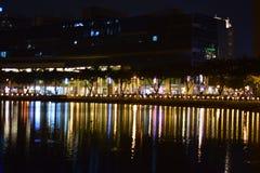 Γέφυρα αστεριών το βράδυ Στοκ φωτογραφία με δικαίωμα ελεύθερης χρήσης