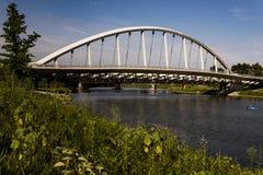 Γέφυρα αψίδων κεντρικών δρόμων - ποταμός Scioto - Columbus, Οχάιο Στοκ εικόνα με δικαίωμα ελεύθερης χρήσης